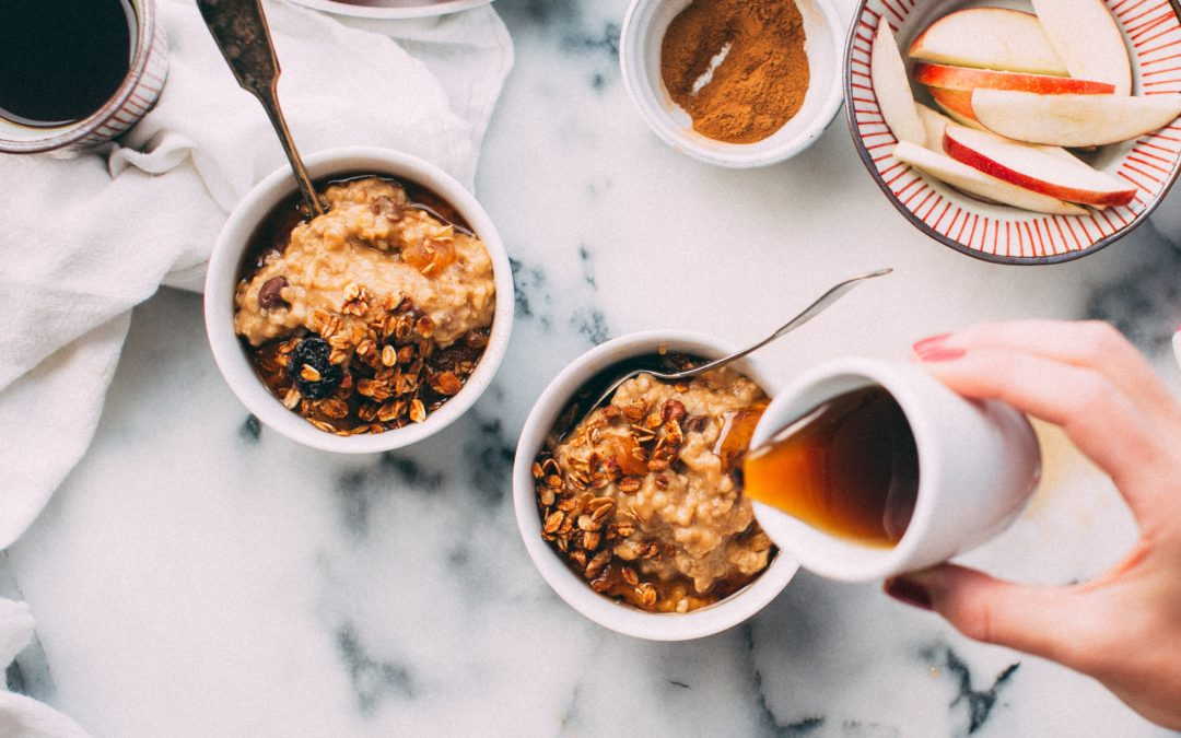 Steel Cut Oats with Pears (high soluble fibre)